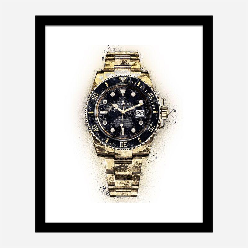 Submariner Gold Abstract Art Print