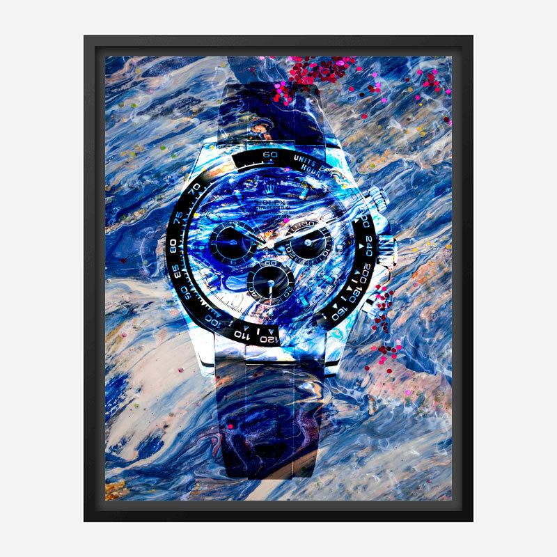 Daytona Liquid Abstract Art Print