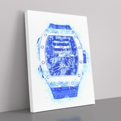 RM 69 Blue Grunge Abstract Art Print