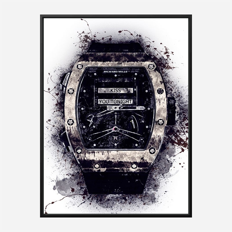 RM 69 Dark Grunge Abstract Art Print