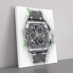 RM 72 Grey Grunge Abstract Art Print