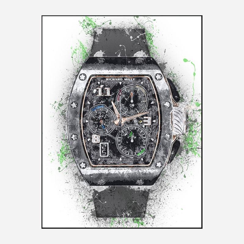 RM 72 Grey Grunge Abstract Art Print