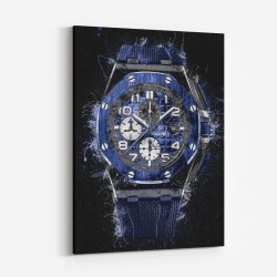 AP Offshore in Blue Abstract Art Print