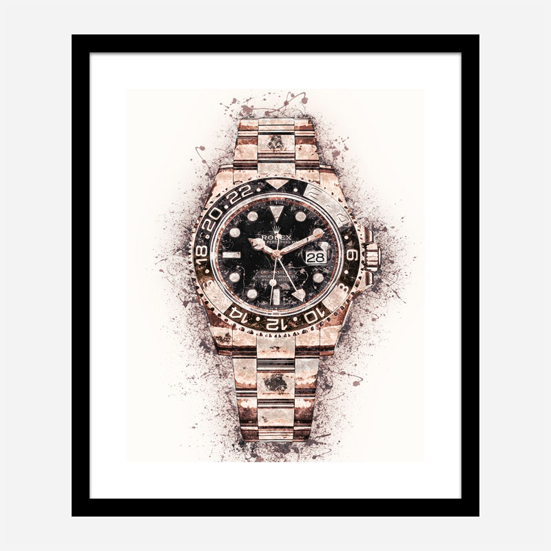 GMT Master Rose Gold Abstract Art Print