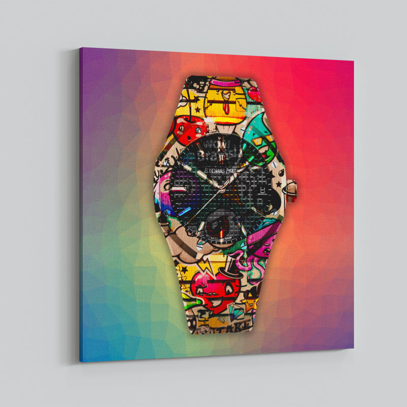 AP Royal Graffiti Rainbow Wall Art Print