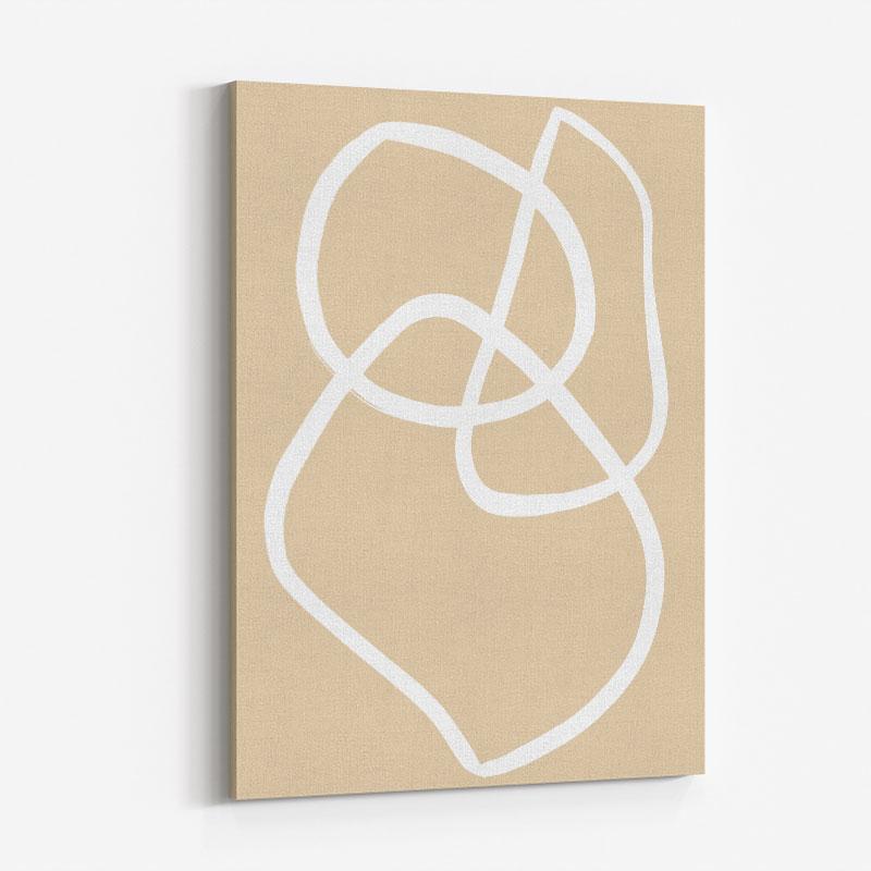 Beige Lines 03 Wall Art Print