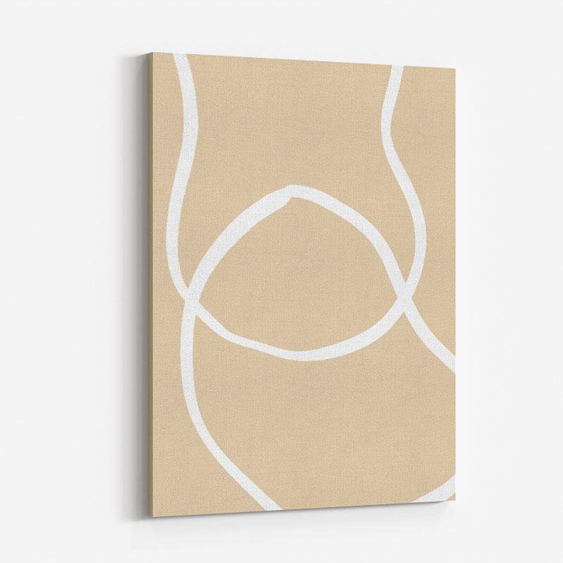 Beige Lines 04 Wall Art Print