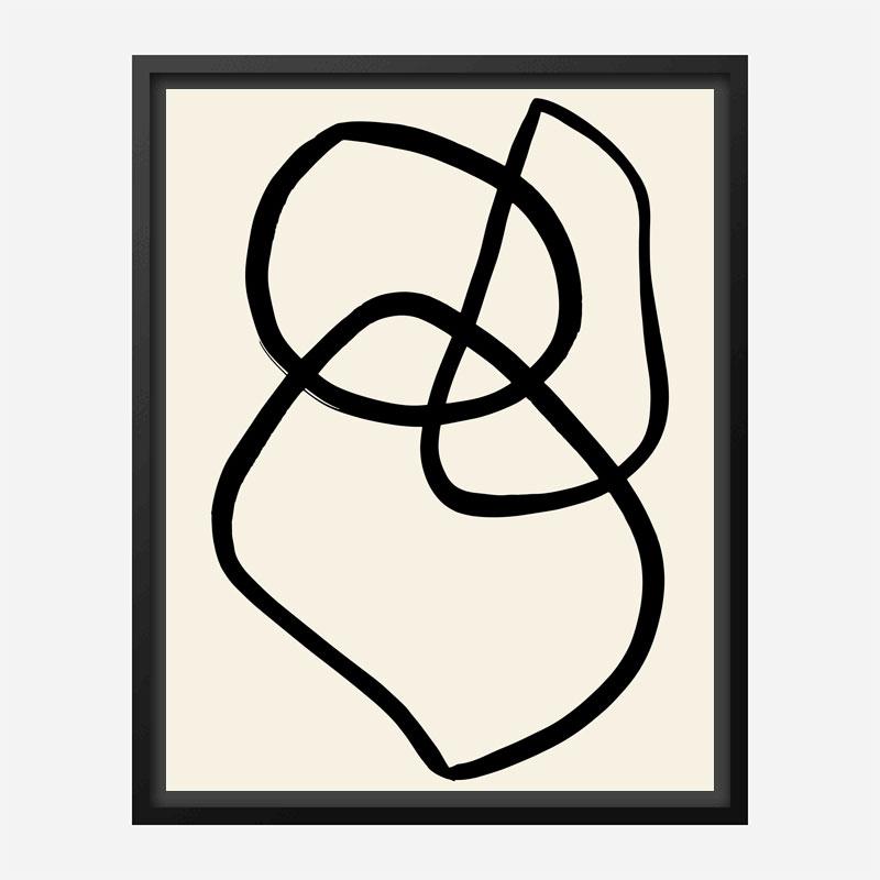 Black Lines 03 Wall Art Print