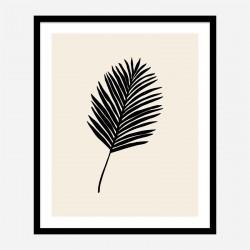 Black Palm Wall Art Print