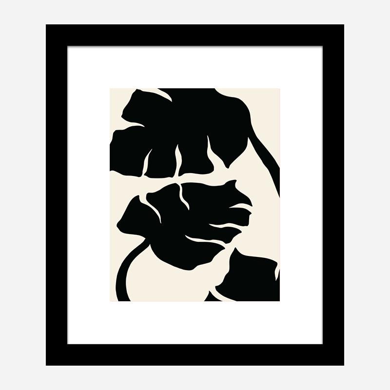 Monstera Black Wall Art Print