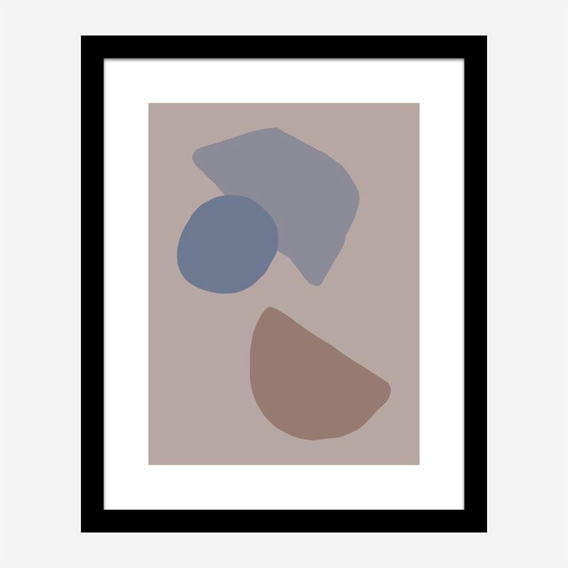 Organic Shapes 03 Wall Art Print