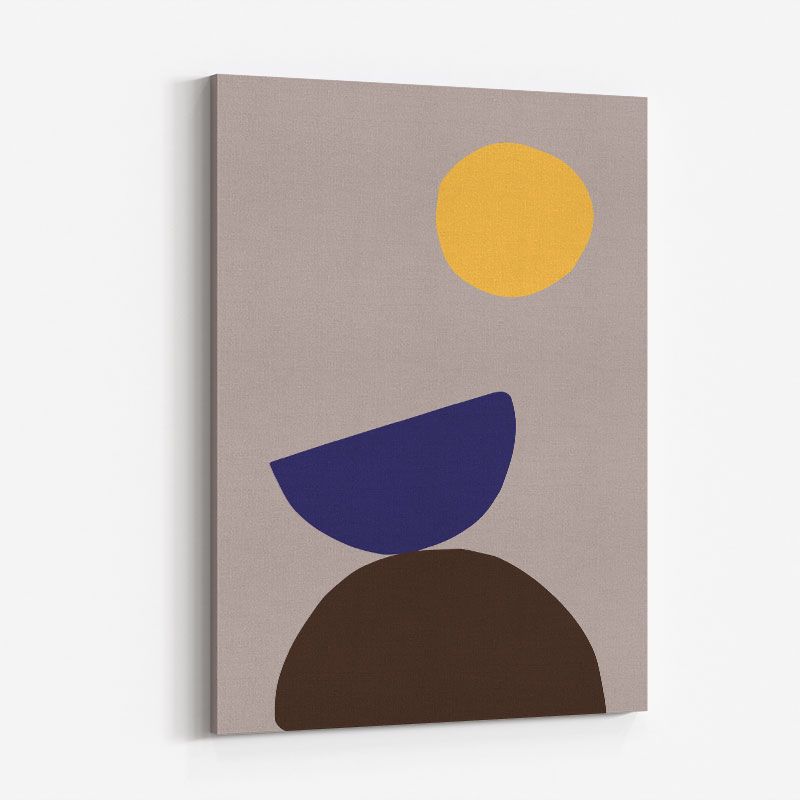 Organic Shapes 07 Wall Art Print