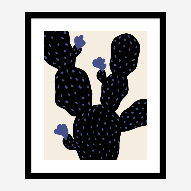 Prickly Pear Cactus Wall Art Print
