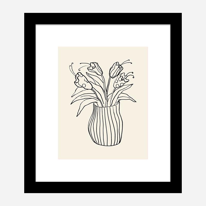 Vase Sketch Wall Art Print
