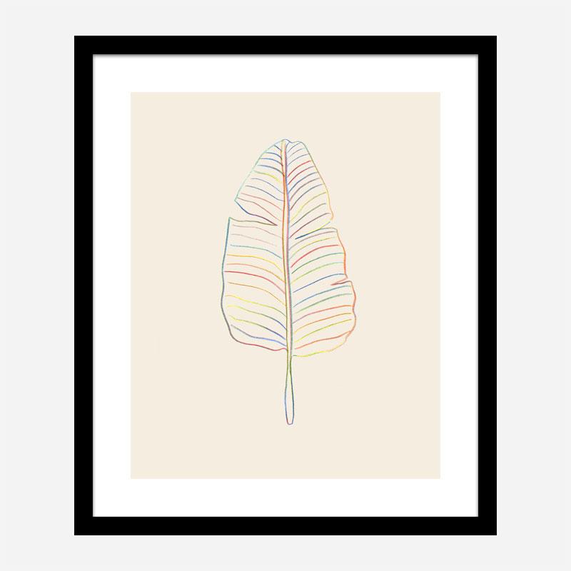 Banana Rainbow Leaf Wall Art Print