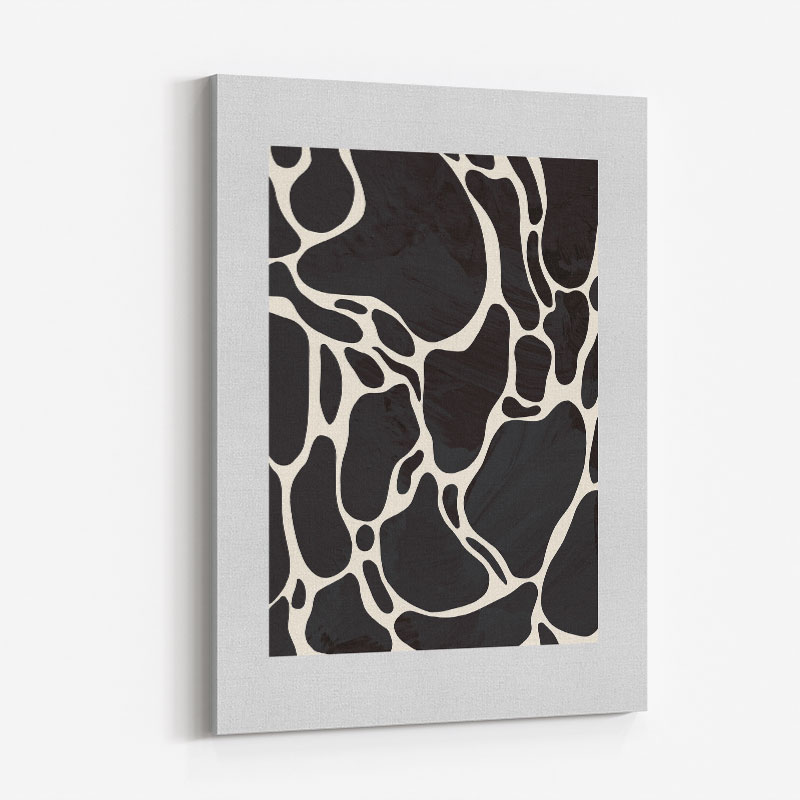 Giraffe Grey Wall Art Print
