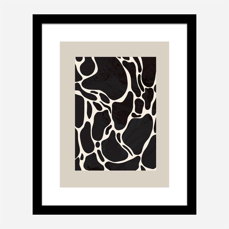 Giraffe Sand Wall Art Print