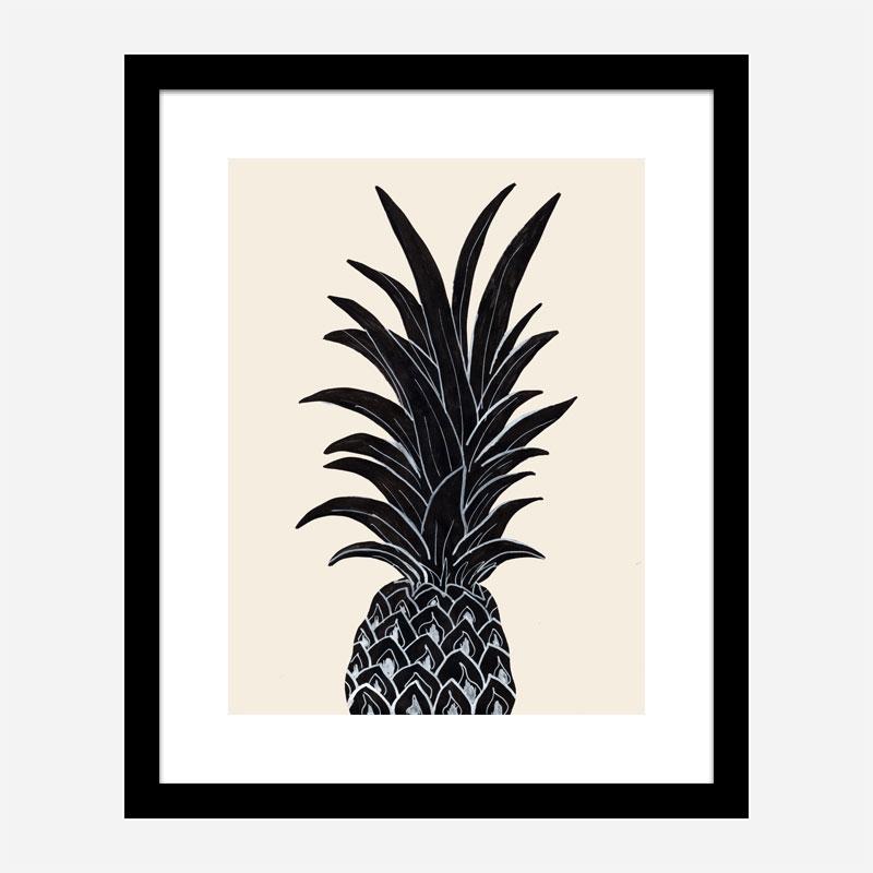 Black Pineapple Wall Art Print