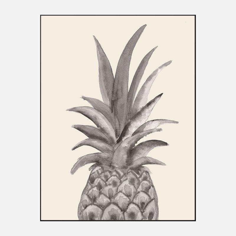 Ink Pineapple Wall Art Print