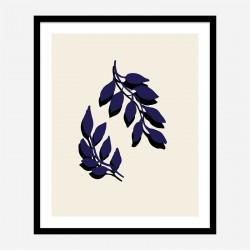 Blue Twigs Wall Art Print