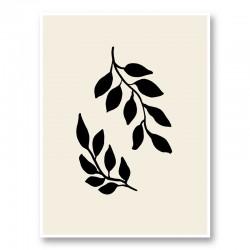 Black Twigs Wall Art Print