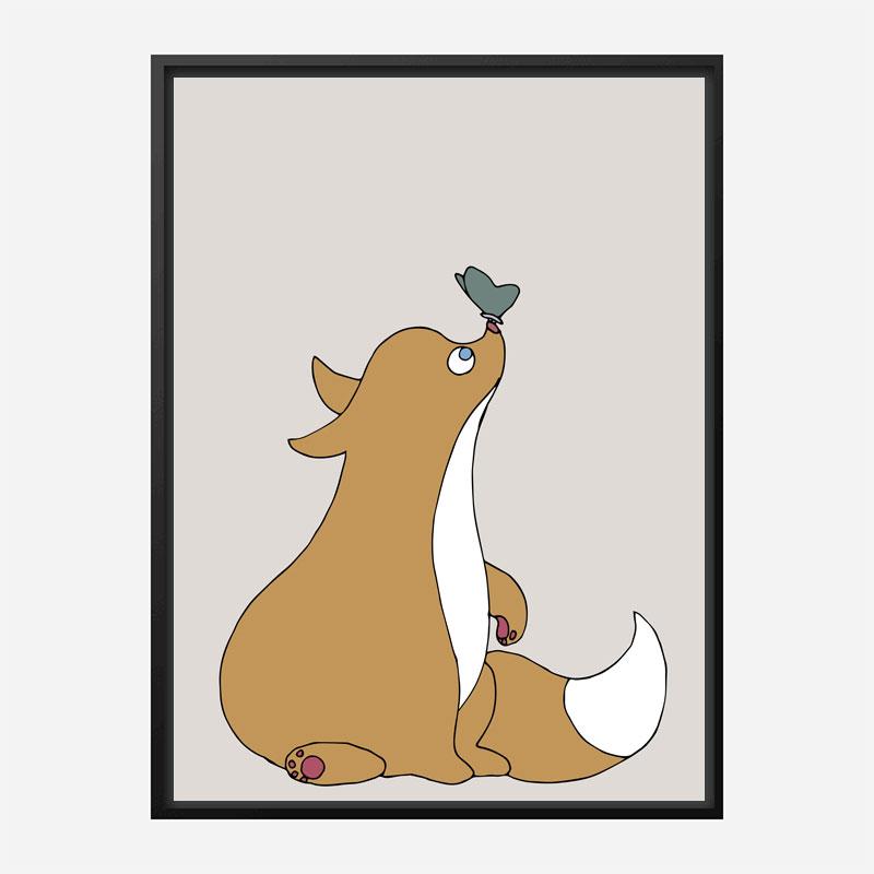 The Fox Wall Art Print