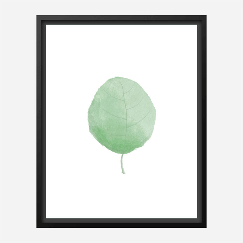 Single Leaf Wall Art Print