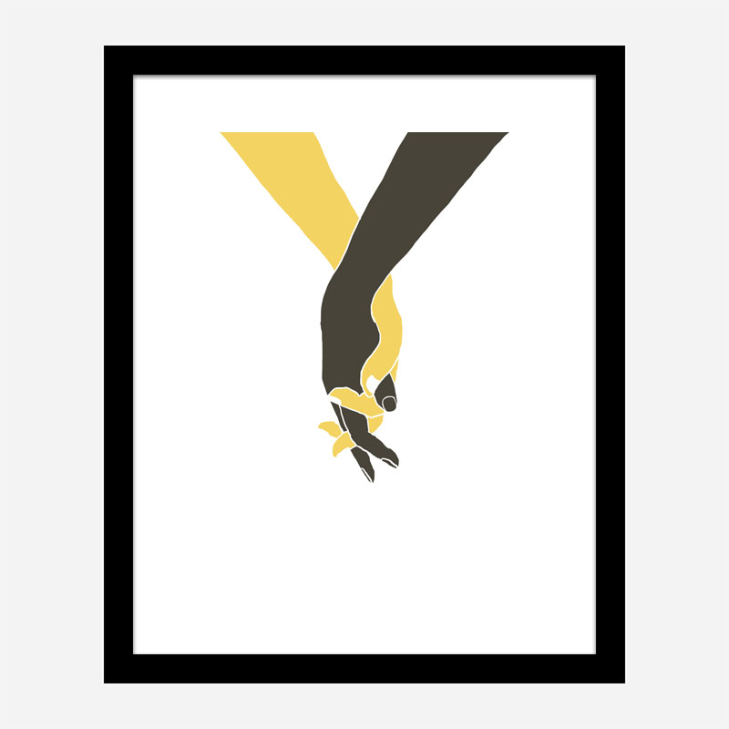Holding Hands Wall Art Print