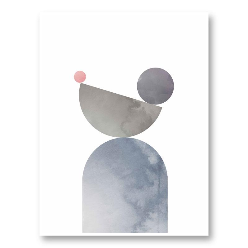 Geometrical Shapes 01 Wall Art Print