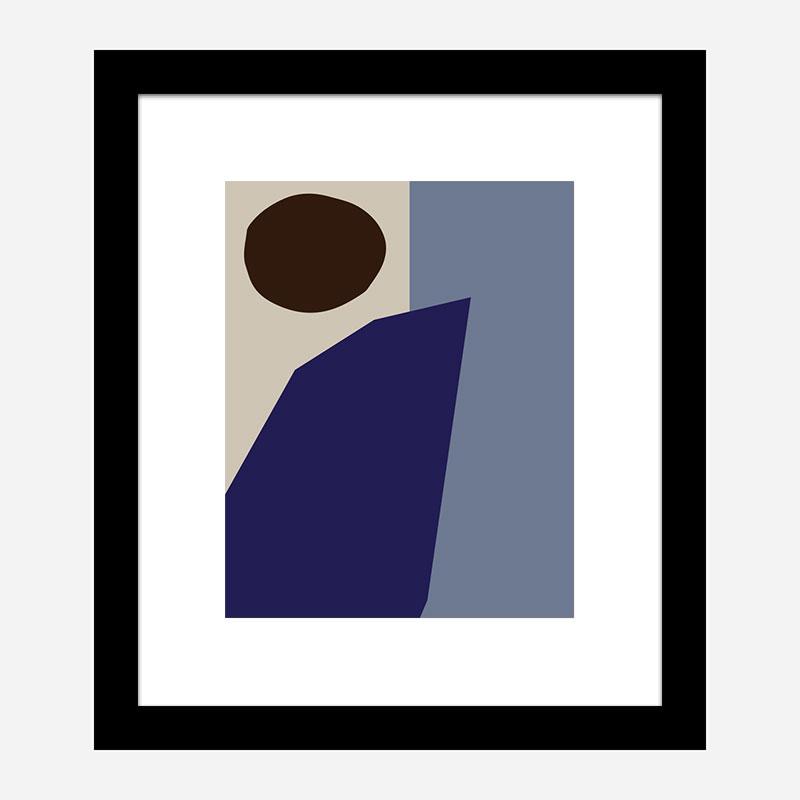 Color Blocks 02 Blue Wall Art Print