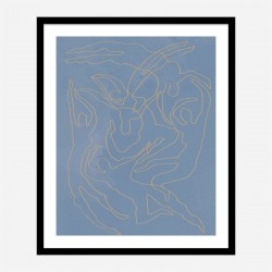 Blue Swimmers Wall Art Print
