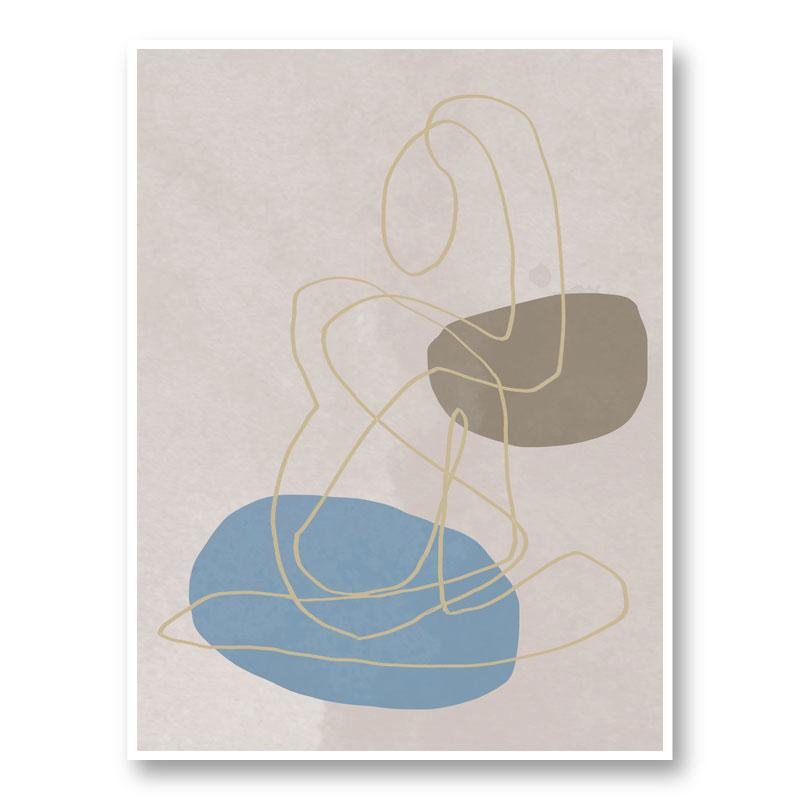 Golden Lines Wall Art Print