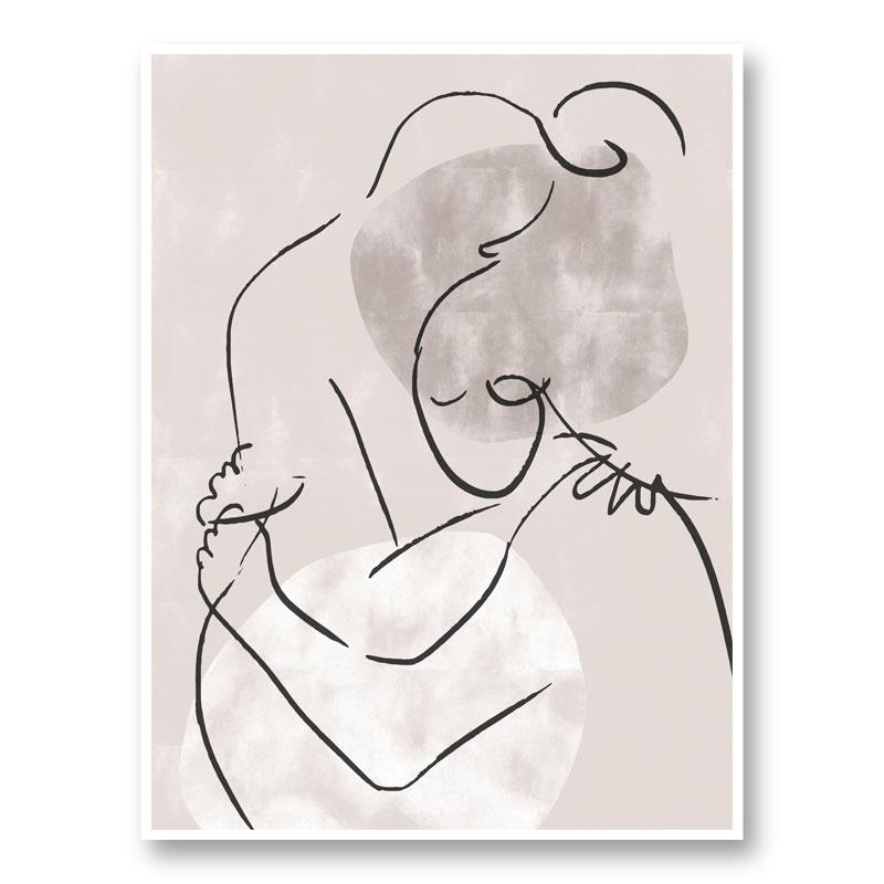 The Hug Wall Art Print