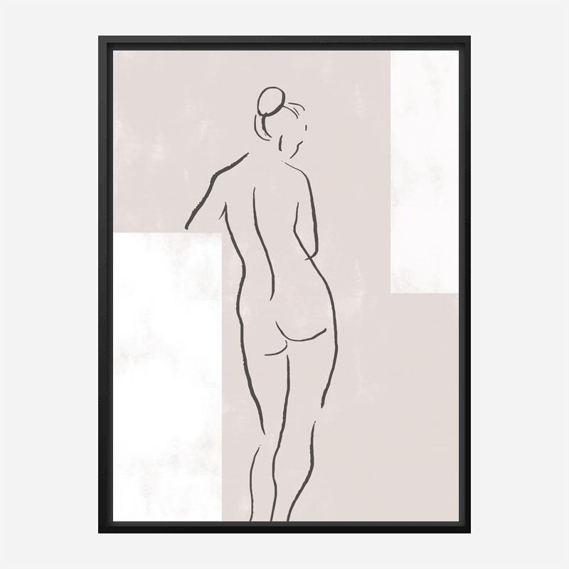 Woman in Studio Wall Art Print
