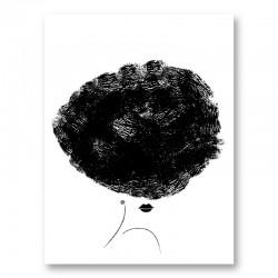Ballerina Hair Wall Art Print
