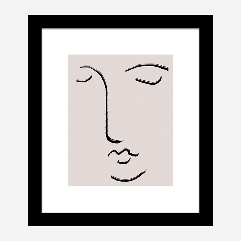 Closed Eyes Wall Art Print