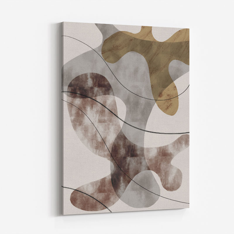 Brown Seaweed Wall Art Print