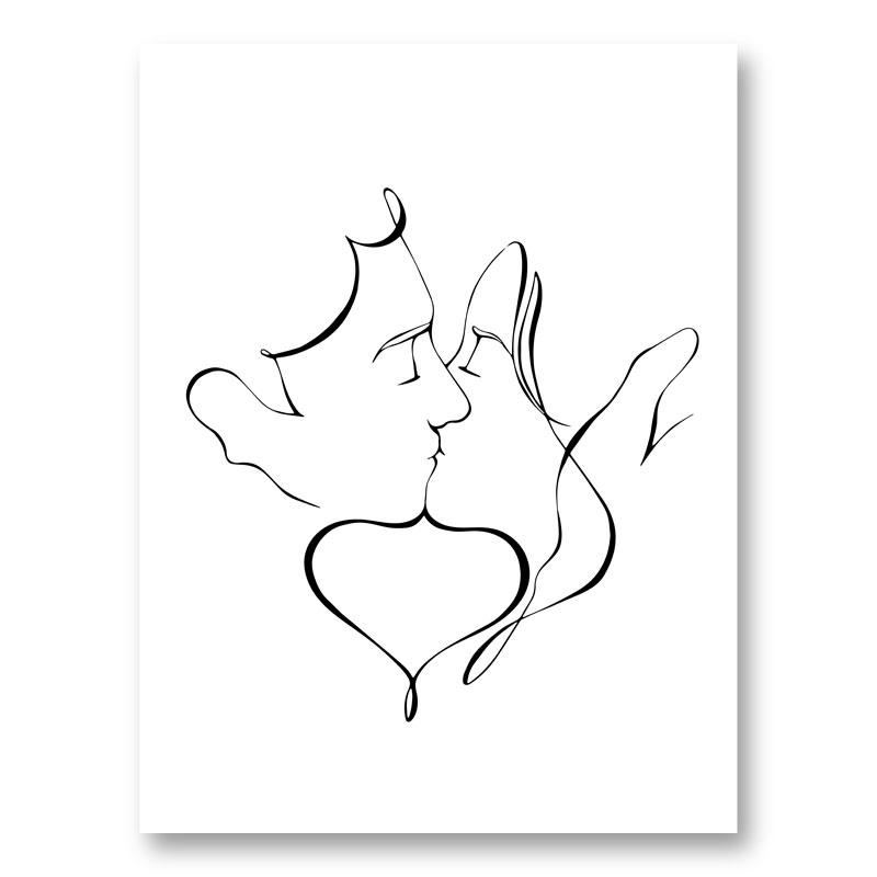 The Kiss Wall Art Print