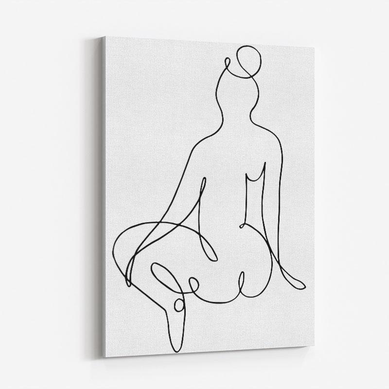 Nude Back Wall Art Print