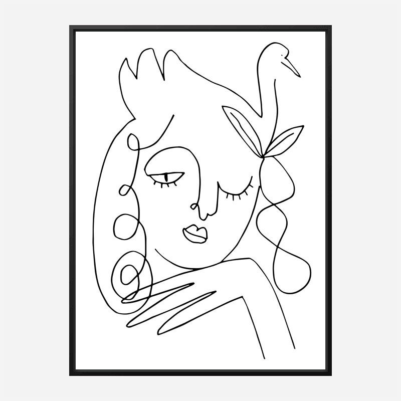 White Swan Wall Art Print