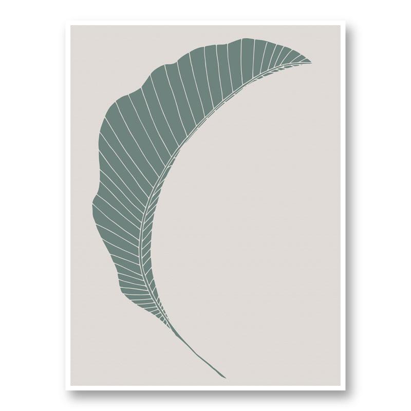 Banana Leaf Green Wall Art Print