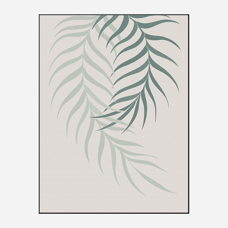 Leaf Frilly Green Wall Art Print