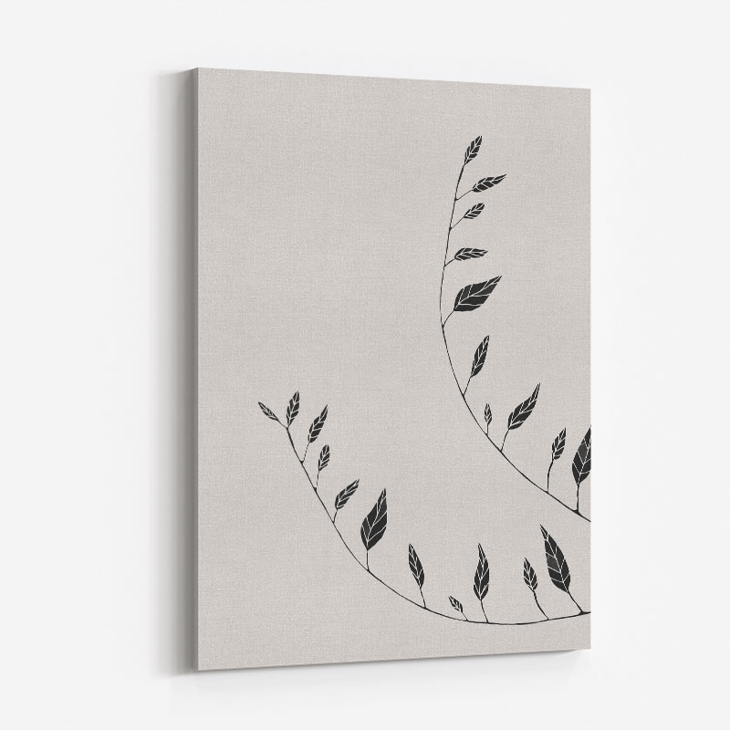 Wavy Branches Wall Art Print