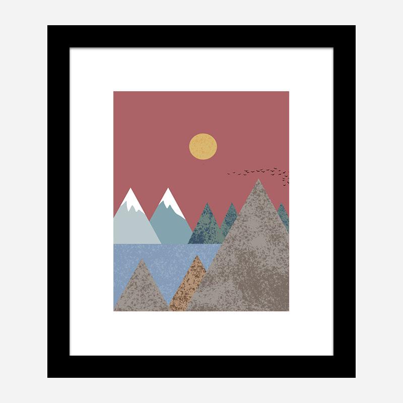 Mountain Landscape Wall Art Print