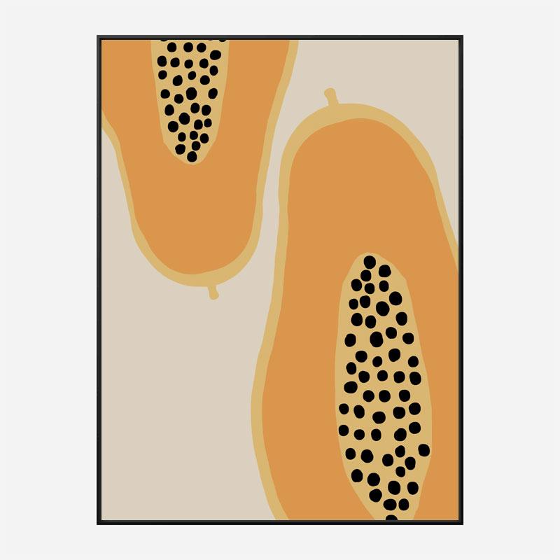 Papaya Fruit Wall Art Print