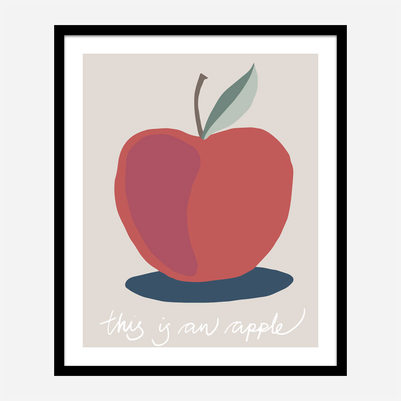 This is an Apple Wall Art Print
