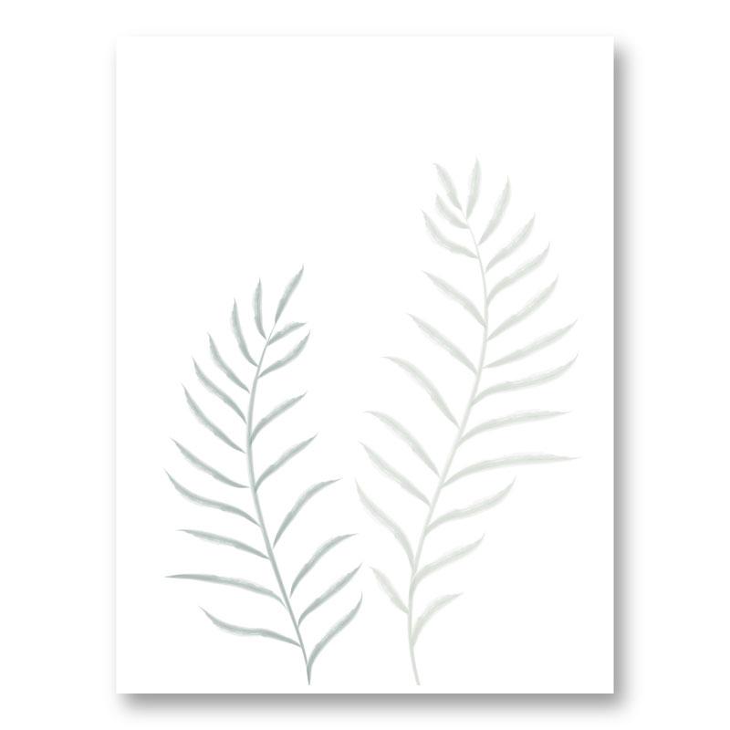 Pale Plants Wall Art Print