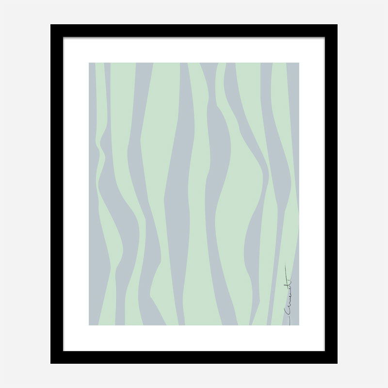 Wavy Stripes Wall Art Print