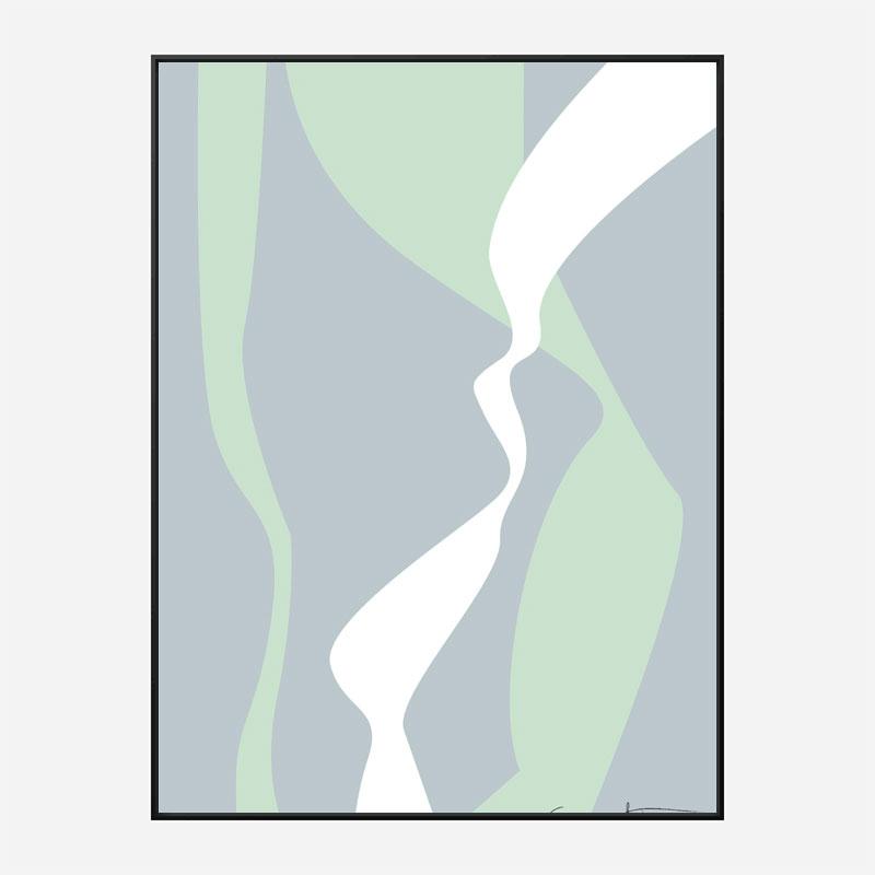 Wavy Tracks Wall Art Print