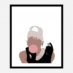 Bubblegum Girl Wall Art Print